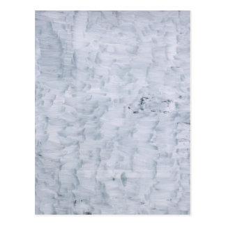 ミニマルで抽象的で白い絵筆の質パターン ポストカード
