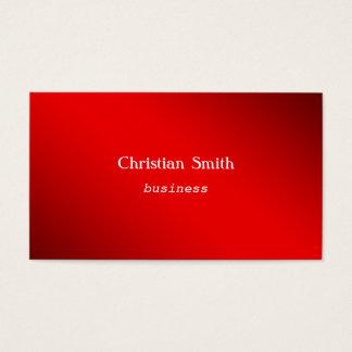 ミニマルで、モダンで赤い名刺 名刺