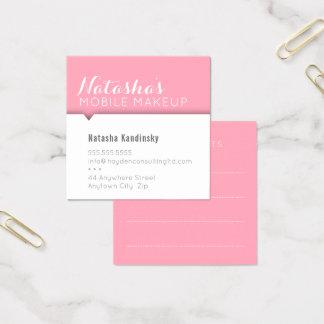 ミニマルなカードシンプルでモダンできれいではっきりしたなピンク スクエア名刺
