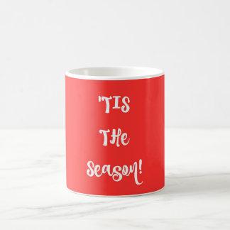 ミニマルなタイポグラフィのクリスマスのマグ コーヒーマグカップ
