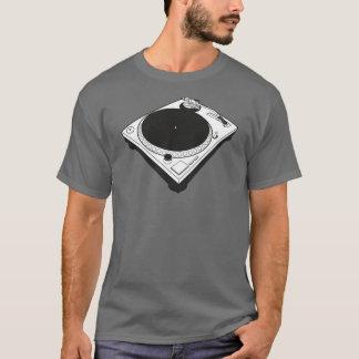 ミニマルなターンテーブルのデザイン Tシャツ