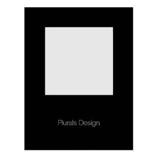 ミニマルなデザインの写真フレームの郵便はがき ポストカード