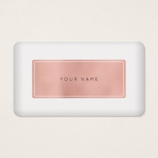 ミニマルなピンクのバラの金ゴールドの真珠白いVip 名刺