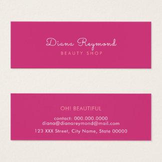 ミニマルなモダン、フェミニンなエレガントで明白な美しいのピンク スキニー名刺