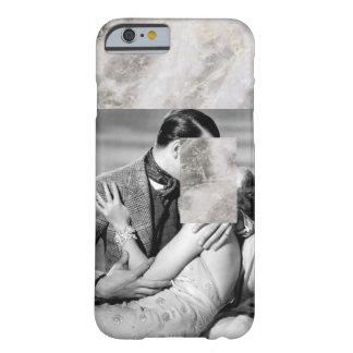 ミニマルなヴィンテージのフィルムの黒く及び白い大理石 BARELY THERE iPhone 6 ケース