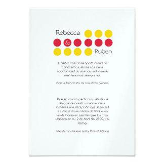ミニマルな点の結婚式招待状 カード