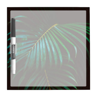 ミニマルな熱帯シュロの葉の平静の緑 ホワイトボード