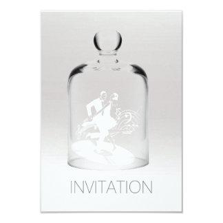 ミニマルな白人の灰色の銀製のグラデーションなガラスダンサー 8.9 X 12.7 インビテーションカード