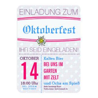 ミニマルなOctoberfestの招待 カード