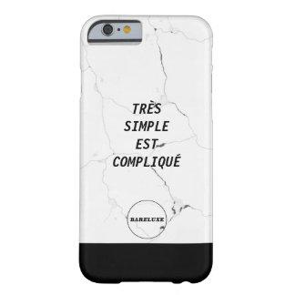 ミニマルなTRÈSのシンプル米国東部標準時刻COMPLIQUÉの大理石の文字のロゴ BARELY THERE iPhone 6 ケース