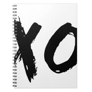 ミニマルなXOのブラシ ノートブック