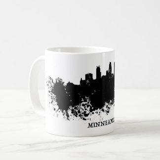 ミネアポリスのスカイライン- Splatのペンキ コーヒーマグカップ