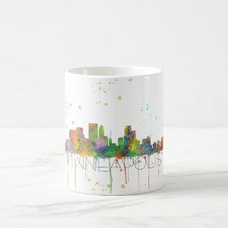 ミネアポリス、ミネソタのスカイライン-飲むマグ コーヒーマグカップ