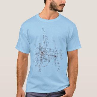 ミネアポリスSt. ポールの運輸ルート Tシャツ