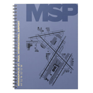 ミネアポリスSt. ポール空港(MSP)地図のノート ノートブック