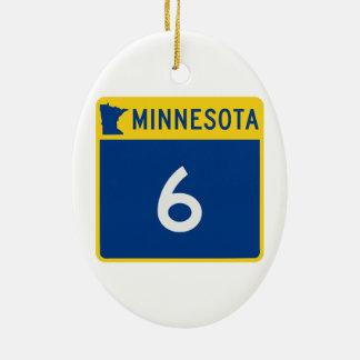 ミネソタのトランクのハイウェー6 セラミックオーナメント