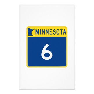 ミネソタのトランクのハイウェー6 便箋