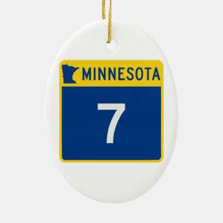 ミネソタのトランクのハイウェー7 セラミックオーナメント