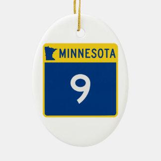 ミネソタのトランクのハイウェー9 セラミックオーナメント