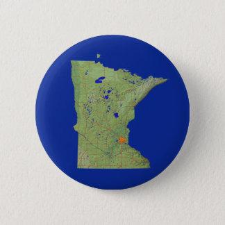 ミネソタの地図ボタン 5.7CM 丸型バッジ