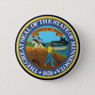 ミネソタの州のシール 5.7CM 丸型バッジ