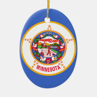 ミネソタの州の旗 セラミックオーナメント