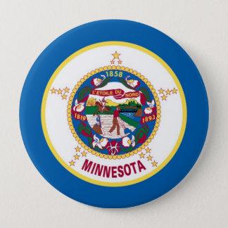 ミネソタの州の旗 10.2CM 丸型バッジ