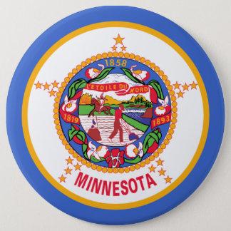 ミネソタの州の旗 15.2CM 丸型バッジ