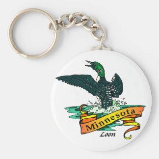 ミネソタの水潜り鳥Keychain キーホルダー