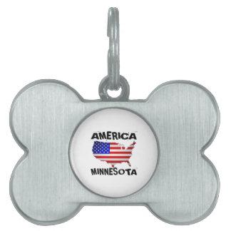 ミネソタの米国州のデザイン ペットネームタグ