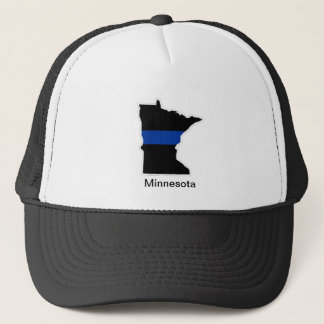 ミネソタの薄いブルーライントラック運転手の帽子 キャップ