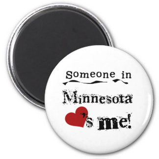 ミネソタの誰かは私を愛します マグネット