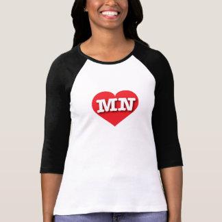 ミネソタの赤いハート-大きい愛 Tシャツ