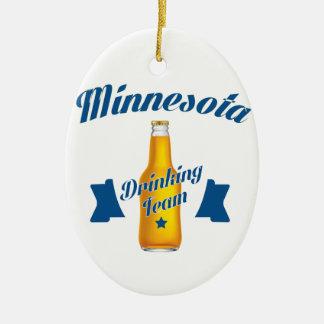 ミネソタの飲むチーム セラミックオーナメント