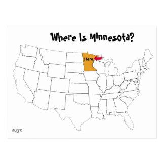 ミネソタはどこにありますか。 ポストカード