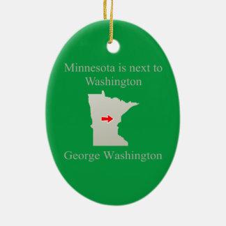 ミネソタはワシントン州の隣にあります セラミックオーナメント