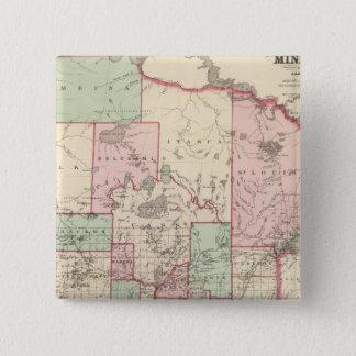 ミネソタ5 5.1CM 正方形バッジ