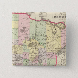 ミネソタ6 5.1CM 正方形バッジ