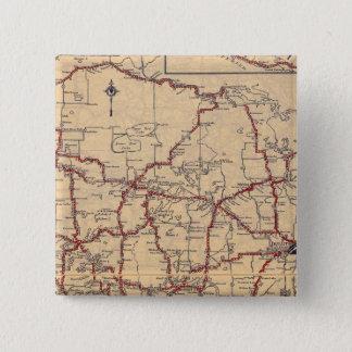 ミネソタ8 5.1CM 正方形バッジ
