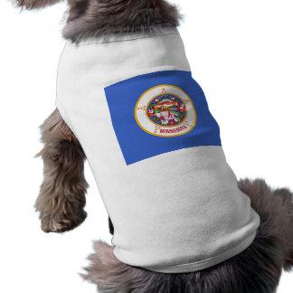 ミネソタ、米国の旗が付いているペット衣類 ペット服