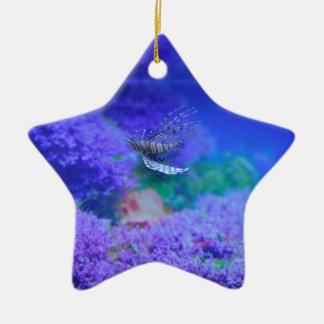 ミノカサゴのアクアリウムの魚の紫色のPterois Zebrafish セラミックオーナメント