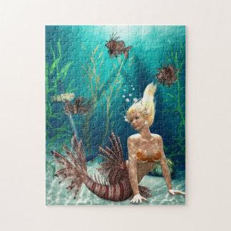 ミノカサゴの人魚のパズル ジグソーパズル