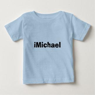 ミハエルベビーの幼児のワイシャツのiMichaelのおたくの名前 ベビーTシャツ