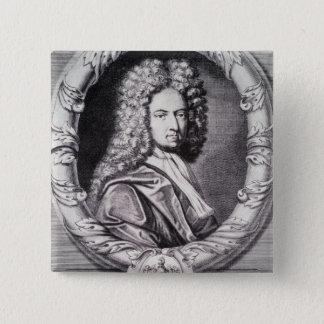 ミハエルヴァンder Gucht著刻まれるダニエル・デフォー 5.1cm 正方形バッジ