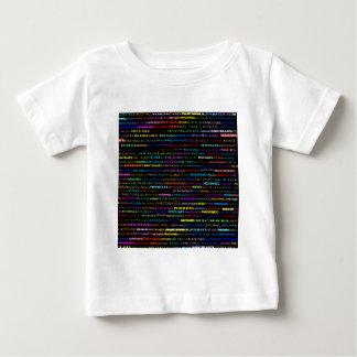 ミハエル文字デザインなIワイシャツの乳児 ベビーTシャツ