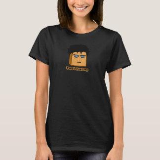 ミハエルToastie黒いTシャツの女性 Tシャツ
