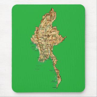 ミャンマーの地図のマウスパッド マウスパッド