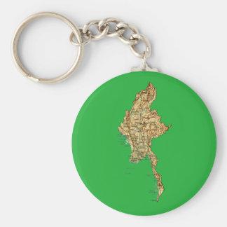 ミャンマーの地図Keychain キーホルダー