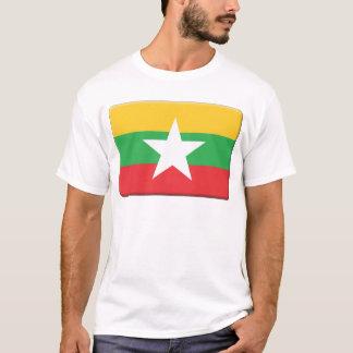 ミャンマーの旗は個人化なります Tシャツ