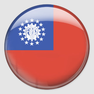 ミャンマーの旗 ラウンドシール